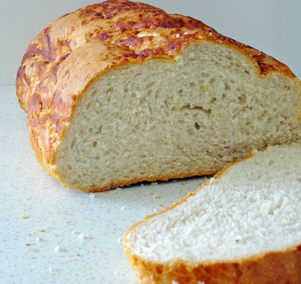 Nice Slice: Nice crusty loaf of Bread