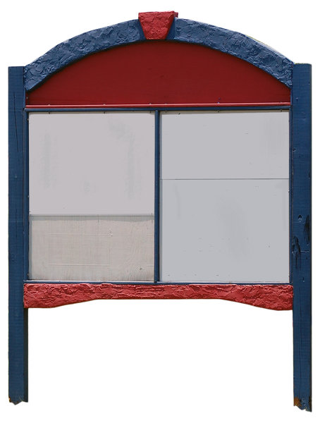 multi-panel round top, 2 post