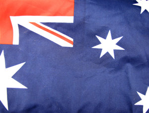 Aussie flag portion: portion of the Australian flag