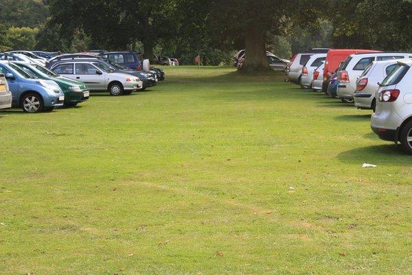 Car park on grass