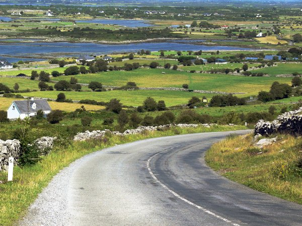 Scenic View: Rural view in Ireland