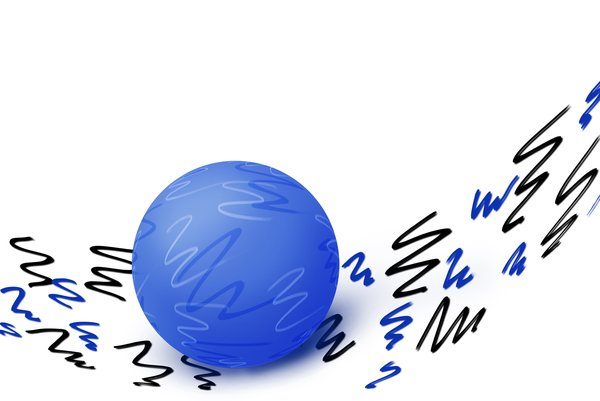 Blue scribble ball
