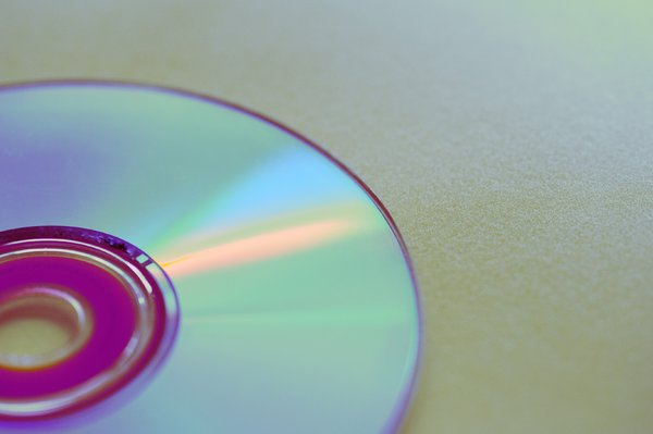 Compact Disc: light reflecting off a CD disc