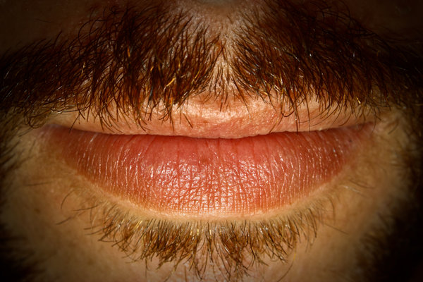 mouth: mouth of a man with moustache