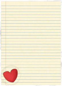 Valentines paper: Valentines blank lines paper illustration