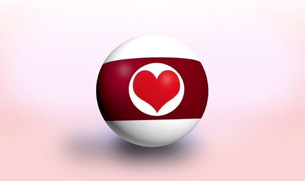 Valentines billiard ball