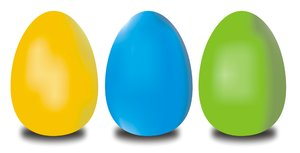 Easter eggs: Easter eggs in two versions