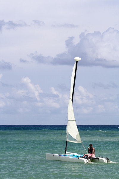 Catamaran in the Dominican Rep