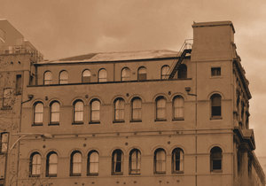 sepia arched architecture