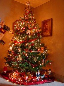 Orange christmas tree decorations ukraine