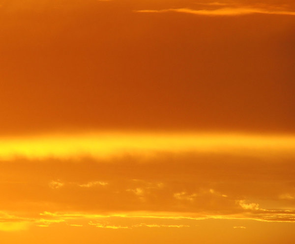 fire in the sky: golden Southern sunset