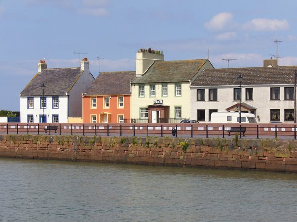 Colourful houses, Maryport: I liked the bright colours of these harbourside properties in Maryport, livening up the place even on a fairly dull day