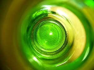 Swirls 2: This is a view into an empty beer bottle - I like the colours and lighting, and felt it might be a useful and interesting texture.
