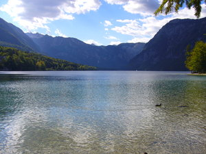 Lake Bohinj, Slovenia 2: The beautiful Lake Bohinj (Bohinjsko jezero) in the Triglav National Park in Slovenia.
