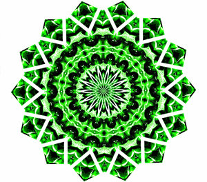Christmas green mandala