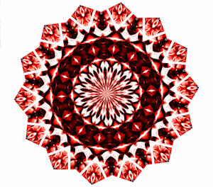 Christmas red mandala: abstract backgrounds, textures, patterns, geometric patterns, kaleidoscopic patterns, circles, shapes and  perspectives from altering and manipulating image