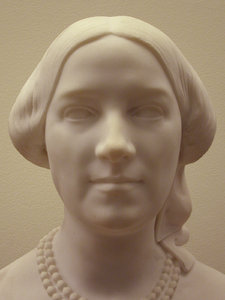 marble princess: a marble head of an unknown princess in the musee d'orsay