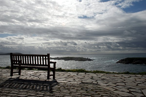 Bench to the ocean