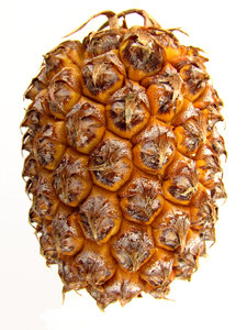 sweet pineapple: small sweet ripe pineapple ready to be cut up - fresh fruit