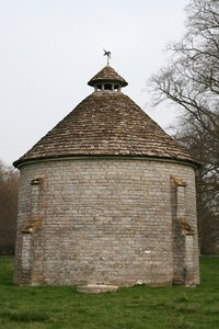 Water tower: An old water tower disguised to look like a dovecote in Somerset, England.