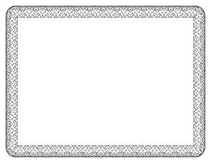 Border - Fancy: A very neat and fancy border for a letter size sheet