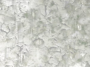 Crazed Streaky Paint 3: Cracked and streaky paint in pale shades of grey and green.