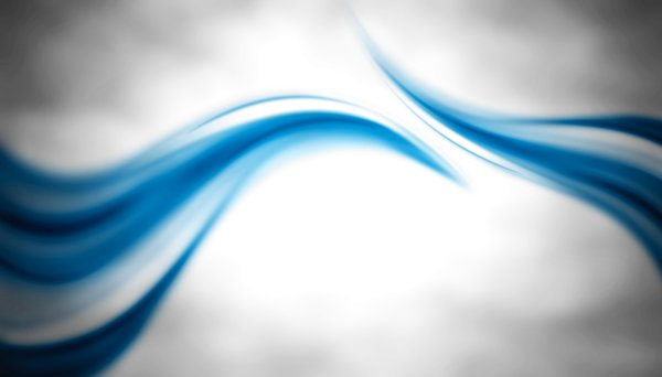 Abstract Waves: Two abstract waves on the white background