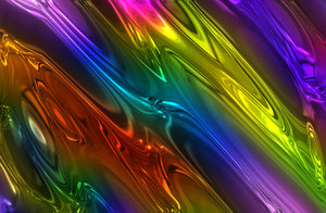 Shiny Metallic Background 1: Multi-coloured shiny metallic background. Beautiful eye-catching colours. Makes a great texture, background or fill.