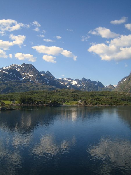 summer mood: A wonderful sunny day along the shore in Norway near the iland Lofoten.