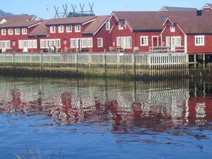 Svolvaer: The fishermen houses are part of the harboeur area in Svolvear (Lofoten, Norway).