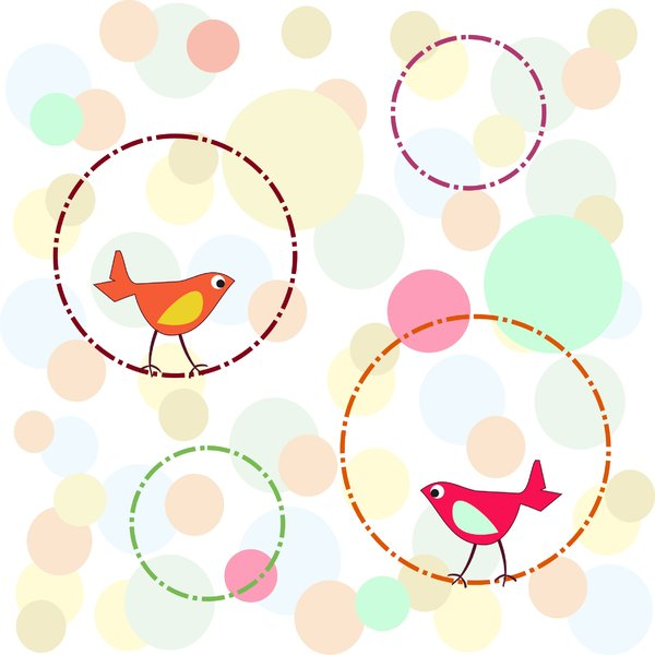 Birdies with circle background