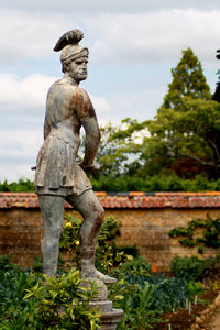 Greek Warrior: Statue in a country garden