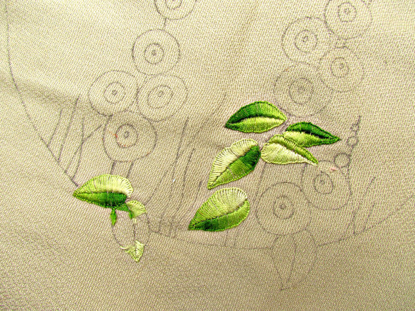 embroidery - unfinished: examples of incomplete and unfinished embroidery and needlework