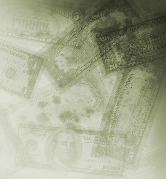 Grungy Money 1: Variations on a grungy money texture.