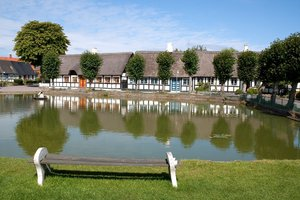 Village pond: A village duckpond on the island of Samsø, Denmark.