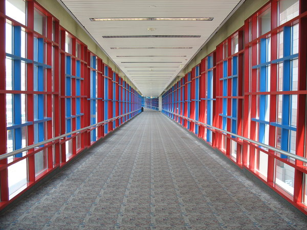 skyway: skyway corridor in downtown minneapolis.