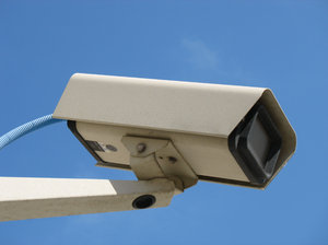 security camera: a security camera.