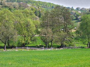 spring landscape in the hills: spring landscape in the hills 2