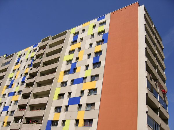 colourful apartment skyscraper: colourful apartment skyscraper
