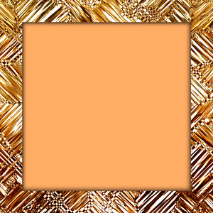 Glass Textured Frame: Beige and golden textured glass frame or border. Makes a great fill, background,texture or glass substitute.