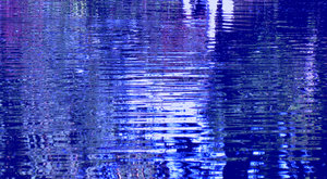 blue ripple reflections