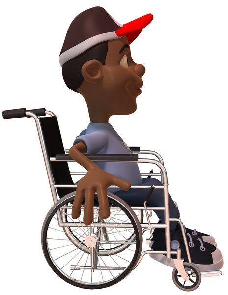 Kid in a wheelchair