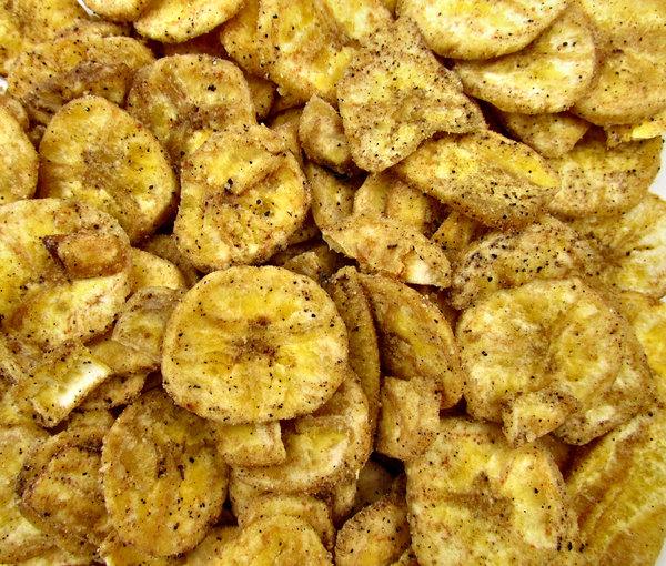 peppered savory banana chips