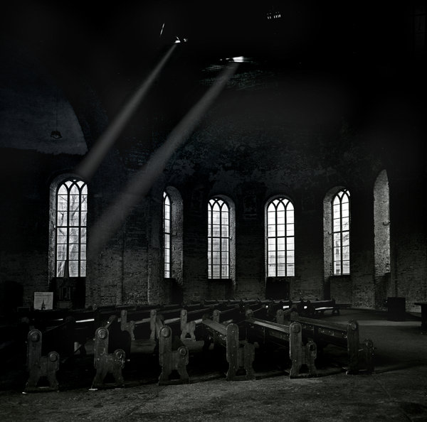 Ruined church in Berlin: Inside reformed parochial church in Berlin, in the Klosterviertel neighbourhood of the Mitte.