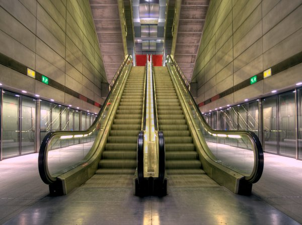 Subway escalator - HDR