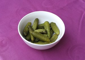 bowl with pickles