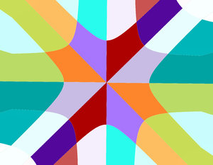 corner cross2: abstract backgrounds, textures, patterns, geometric patterns, shapes and perspectives from altering and manipulating images