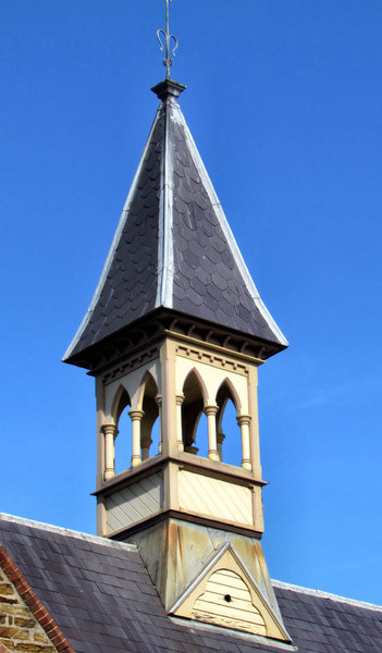 silent bell tower: disused historic church bell tower