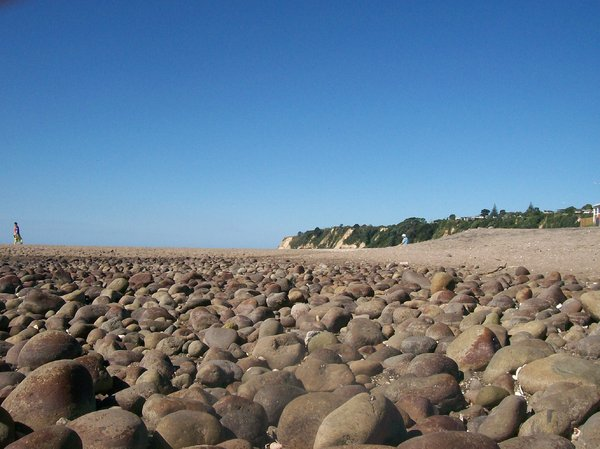 Stony Beach: rounded stones on a foreshore