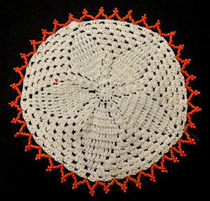 African beaded doily3